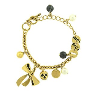 Miss Sixty Miss Sixty 14k Gold Plated Faux Pearl Charm Ladies Bracelet