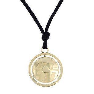 Miss Sixty Miss Sixty Coins Collection Gold Plated Pendant On Silk Cord Ladies Necklace