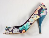 Missoni And Floral Peep Nog Pumps