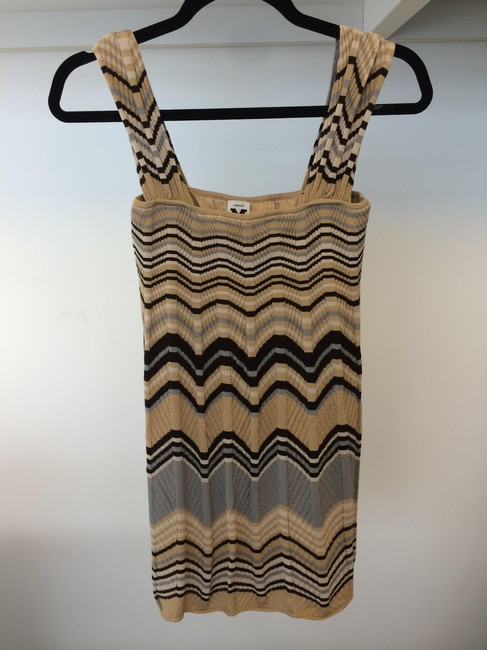 Missoni short dress Beige, Black, Blue on Tradesy