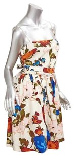 Missoni short dress Multi-Color Womens Cotton Floral on Tradesy