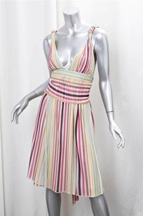 Missoni short dress Multi-Color Womens Cream on Tradesy