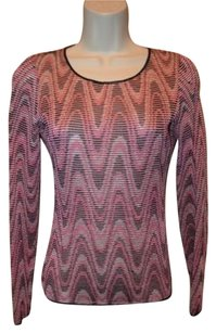 Missoni 406 Pink Black Rayon Sweater