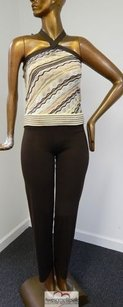 Missoni Missoni Italy 2pc Striped Halter Knit Pant Suit