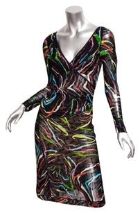 Missoni Womens Rayon Knit Surplice 404 Dress