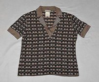 Missoni A8 Cotton Viscose Short Sleeve Knit Top Multi-Color