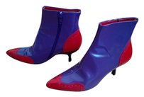 Miu Miu Ankle Statement Piece Showstopper Vintage Purple & Red Boots