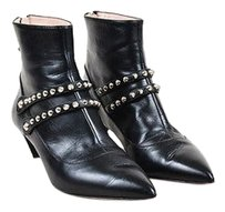 Miu Miu Leather Pointed Black Boots