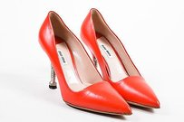 Miu Miu Leather Pointed Red Pumps