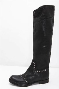 Miu Miu Womens Black Leather Boots
