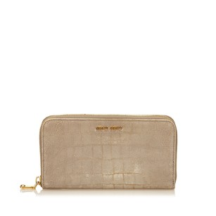 Miu Miu Gray,leather,long Wallets,patent Leather,6emmco007
