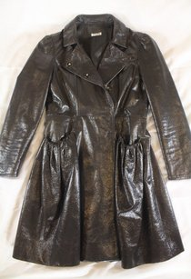 Miu Miu 40 Chocolate Jacket Lg Coat