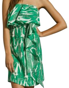 MM Couture short dress Green Multi Miss Me Mm Strapless Chic on Tradesy