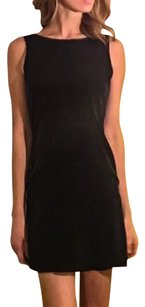 MM Couture Silk Boat Neckline Low V Down Low V Dress