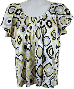 MM Couture Womens Satin Top Yellow