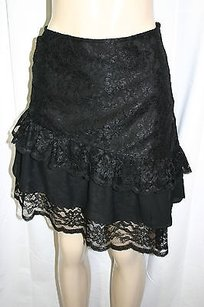 Moda International Lace Skirt Black