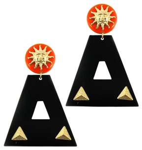 Art Deco Resin Sunny Triangle Drop Fashion Earrings