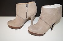 Modern Vintage Jameson Taupe Short Side Zip 38 Cool Bin 263 Browns Boots