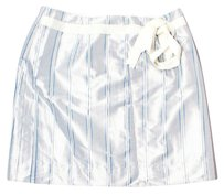 Molly B Mini Skirt Silver, White, Blue, Grey