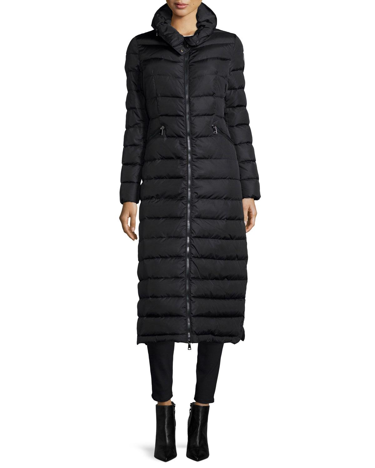 Moncler Fur Jacket Coat. Moncler Black New Flammong Long Puffer ...