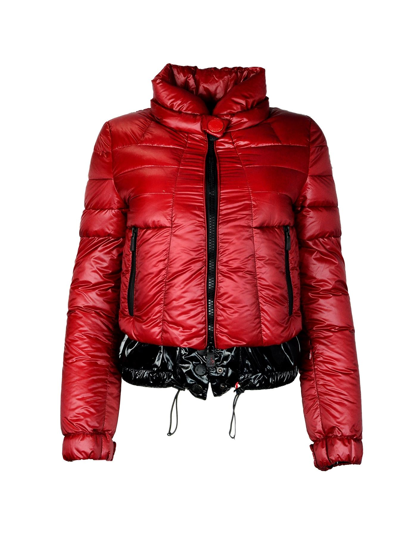 moncler black and red
