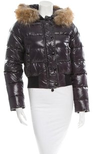 Moncler Winter Alpin Fur Purple Jacket