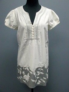 Monsoon Embellished Cotton Short Puff Sleeves 3112 Tunic