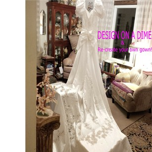 Mori Lee Design On A Dime ~ Lots Of Beautiful Beaded Lace & Satin Wedding Dress