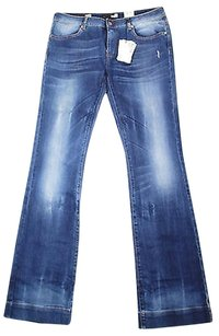 Moschino Womens Blue Boot Cut Jeans