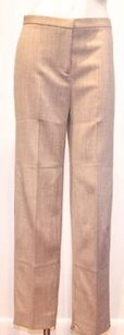 Moschino Cheap And Chic Tan Stretch Wool Flat Front Trousers Pants
