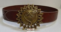 Moschino Moschino Redwall Italy Brown Leather Sun Heart Love Belt