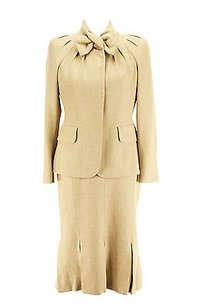 Moschino Moschino Womens Skirt Suit Brown Virgin Wool