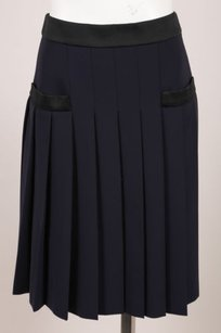 Moschino Navy Black Contrast Skirt