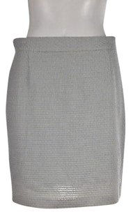 Moschino Womens Beige Skirt Blue