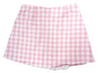 Motel Rocks And Gingham Mini Skirt Pink White