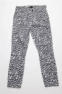 Mother White Cheetah Cotton Skinny Jeans
