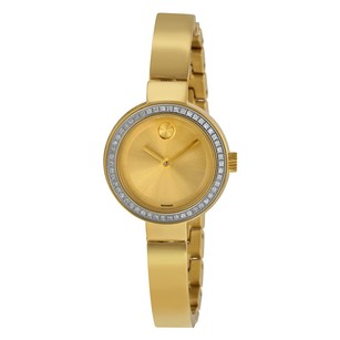 Movado Bold Dot Gold Dial Yellow Gold-plated Ladies Watch MV3600322