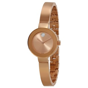 Movado Bold Rose Sunray Dial Rose Gold-tone Ladies Watch MV3600286