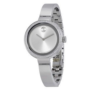 Movado Bold Silver Dial Stainless Steel Ladies Watch MV3600281