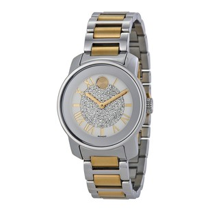 Movado Bold Silver Dial Two-tone Ladies Watch MV3600256
