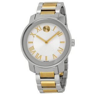 Movado Bold Silvered White Dial Two-tone Stainless Men's Watch MV3600208