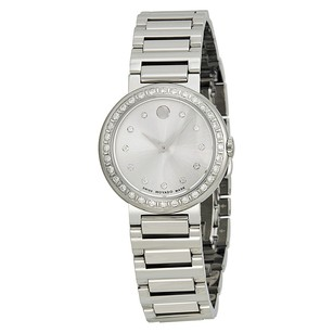 Movado Concerto Silver Dial Stainless Steel Ladies Watch MV0606793