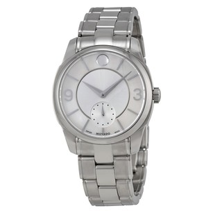Movado LX Silver Dial Stainless Steel Ladies Watch MV0606618