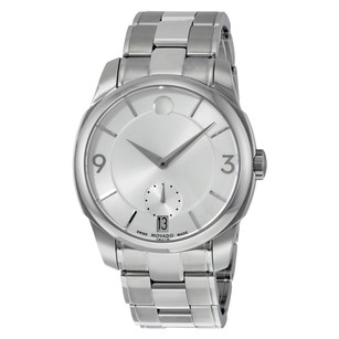 Movado LX Silver Dial Stainless Steel Men's Watch MV0606627