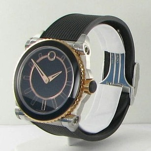 Movado Movado 0606358 Master M03 Automatic 18k Rose Black Rubber 44mm Watch