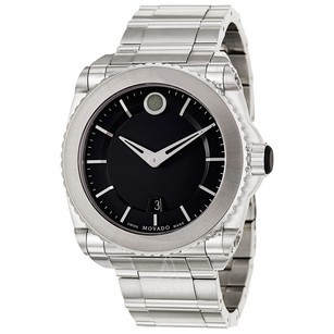 Movado Movado 0606550 Master Men's Black Dial Titanium Bezel Watch