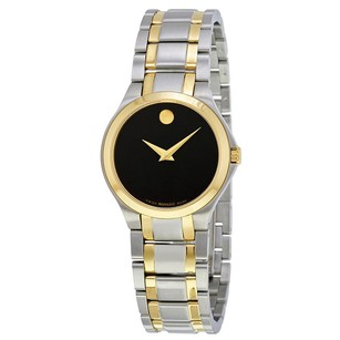 Movado Movado Black Dial Ladies Watch