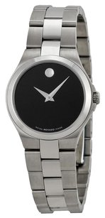 Movado MOVADO Black Dial Stainless Steel Ladies Watch MV0606558