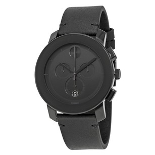 Movado Movado Bold Chronograph Black Dial Leather Band Watch