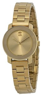 Movado Movado Bold Gold Dial Gold Ion-plated Ladies Petite Watch
